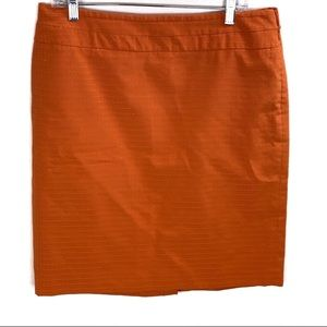 The Limited Orange Textured Pencil Skirt Size 12